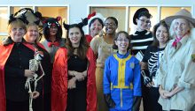 Staff from CSN Libraries in Halloween Outfits