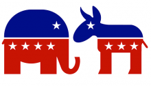 GOP Elephant and Democratic donkey