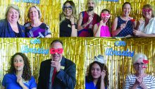Librarians in photo booth