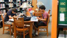 Students studying at Charleston Campus Library