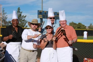 The chefs: Darren Divine, left, Patty Charlton, Larry Mason and Mike Richards.