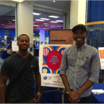 Outgoing ASCSN President William McCurdy II and incoming President Christopher Jones at the Student Diversity Fair.