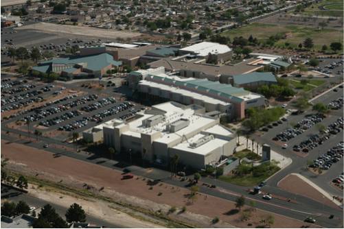 Arial photo of the CSN Cheyenne campus