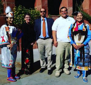 CSN Native Days (left) Nika Tso, Dr. Sondra Cosgrove, Dr. Chad Waucaush, Christian Gerlach and Fawn Douglas