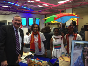CSN President Michael Richards at Ambassador Day with students