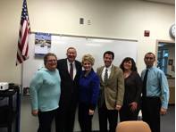 This month, CSN President Michael Richards and Sr. Vice President Patty Charlton visited with Rancho High School officials and Sandy Miller to discuss increased partnerships.