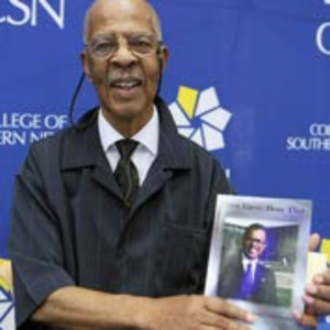 CSN President Emeritus Dr. Paul Meacham with his new book
