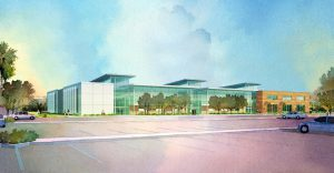 An artist's rendering of the proposed new Health Sciences building.