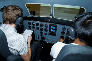 One of CSN's current aviation simulators (2012)